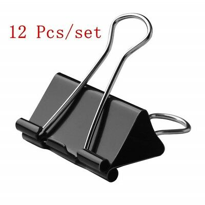 12 Pcs/Set Metal Clip Binder Clips Memo Paper Clips Stationery Office Material