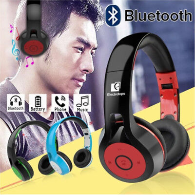 Foldable Bluetooth Headphones Wireless Headset w/Wired Mode for PC/Cell Phones