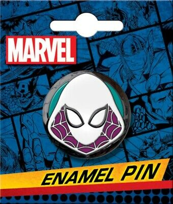 Marvel Comics Spider-Gwen Head and Mask Thick Metal Enamel Pin NEW UNUSED