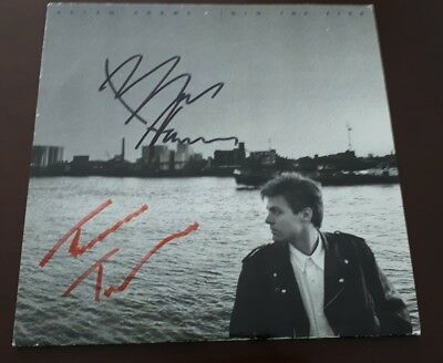 BRYAN ADAMS COVER  SIGNIERT Signed Autograph Autogramm Into the Fire Tina Turner