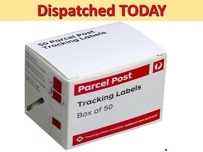 50x Australia Post Tracking Label Stickers Auspost TRACK PARCEL Tracked Shipping