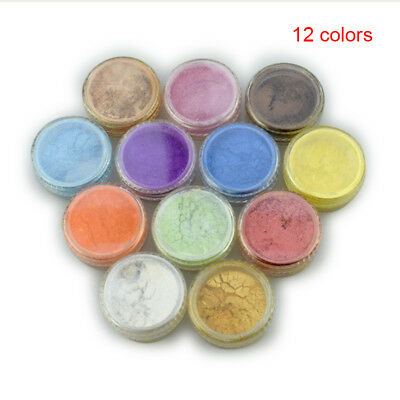 12 Color/set Cosmetic Grade Natural Mica Powder Pigment Soap Candle Colorant Dye