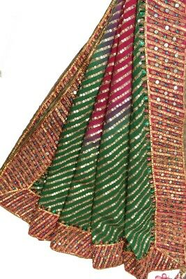 Vintage Heavy Dupatta Antique Women Bridal Long Scarf Embroidered Stole HD1106