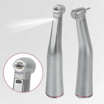 E-type Dental 1:5 Increasing Handpiece LED Fiber Optic Contra Angle-Red Ring Lab
