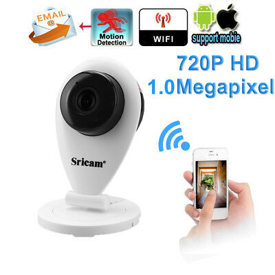 Sricam 720P H.264 Wifi Überwachungskamera Wireless CCTV Security IP kamera white