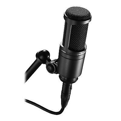 Audio-Technica AT2020 Black XLR Recording Microphone For Music Streaming Voice