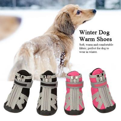 4Pcs Waterproof Winter Pet Dog Cat Shoes Anti-slip Rain Snow Warm Booties GL
