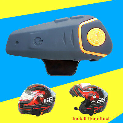 1000m Motorbike BT-S2 Motorcycle Intercom Waterproof Bluetooth Helmet Headset UK