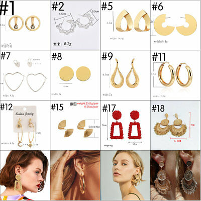 2018 Fashion Large Circle Geometry Dangle Earring Stud Earrings Women Jewelry