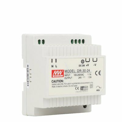 DR-30  Single Output 5V 12V 15V 24V Din Rail Switching Power Supply