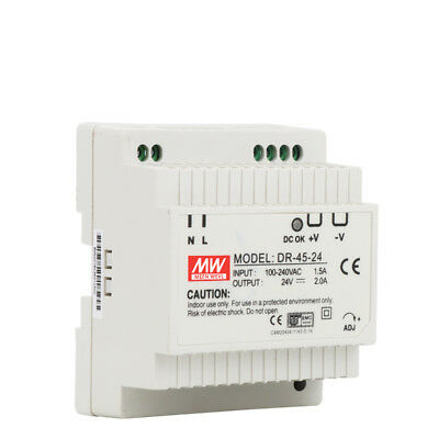 DR-45 45W Single Output 5V 12V 15V 24V Din Rail Switching Power Supply
