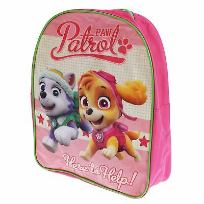 ec21ec59044b Paw Patrol Skye And Everest Backpack Rucksack School Bag Girls