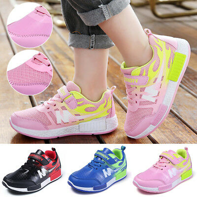 Kids Boys Girls Running Trainers Children Comfort Sports School Shoes Size Uk