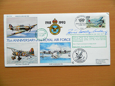 RAF FDC 75th Anniversary of the RAF Series of Signed First Day Covers RAF(75)