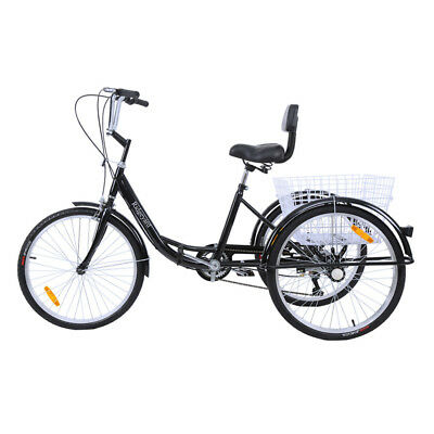 "3 ruote adulti Triciclo Tricycle sospensione 24"" triciclo Adulti Trike SHIMANO"