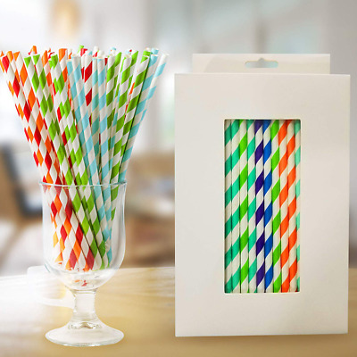 Paper Straws with 10 Colors Drinking Paper Straws Bulk 200 Pcs Christmas Gift