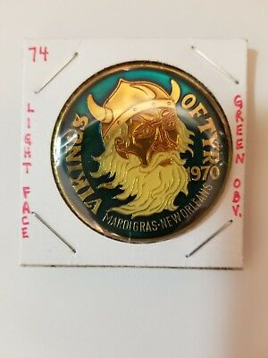 1974 Vikings of Tyr Multi Color GREEN obverse With LIGHT FACE