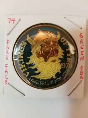 1974 Vikings of Tyr Multi Color with GREEN obverse and DARK FACE