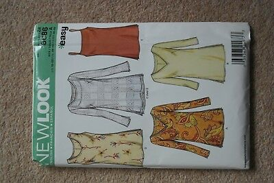 6f020b56a037fc New Look Ladies Easy Sewing Pattern 6086 Simple Tunic Tops (NewLook-6086)