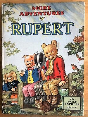 RUPERT ORIGINAL ANNUAL 1953 NOT Inscribed Price INTACT  Painting untouched FINE