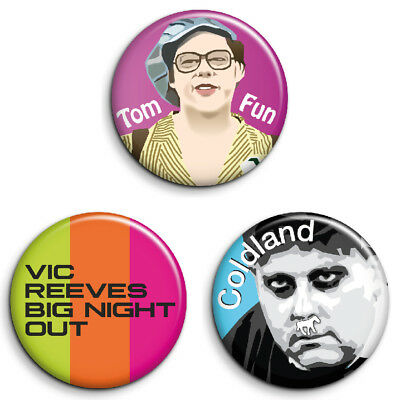 GRAHAM LISTER 25mm Button Badge FREE POST VIC REEVES BIG NIGHT OUT