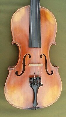 German 4/4 Violin, antique c1880, good condition, lovely flamed maple back
