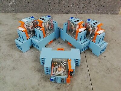 5 x Releco Non-Latching Relay RS 376-442 24V dc 5A  &  Socket RS 437-783 *