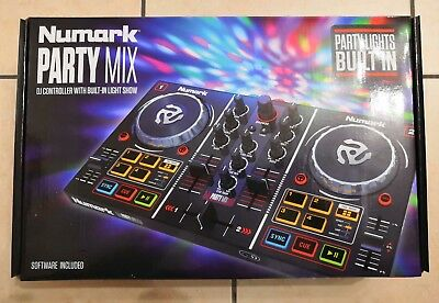CONSOLLE DJ NUMARK PARTY MIX con LUCI LED NUOVA