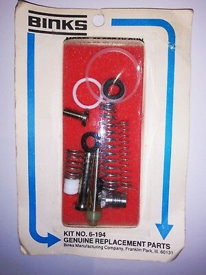 GENUINE BINKS PARTS Kit No  6-194 for Model 62 Spray Gun - New Old Stock