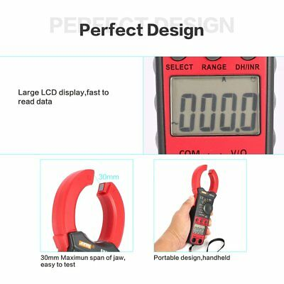 BM5268 Digital Clamp Meter Multimeter True RMS AC/DC Volt Amp Ohm Diode Tester F