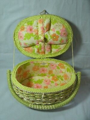 Dritz Sewing Craft Woven Wicker Basket  Scovill No. 17041 Made In Japan