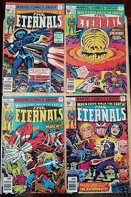 The Eternals #11 12 13 14 (May 1977, Marvel) Jack Kirby Fine+