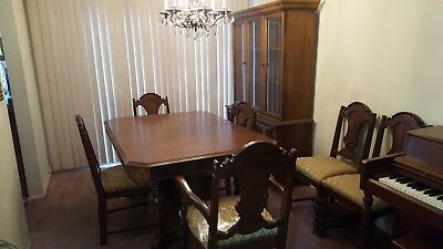 Vintage 1930's Dining Table & Chairs