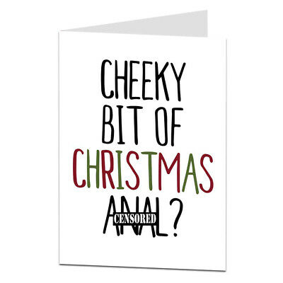 very rude christmas card for him her for boyfriend husband wife