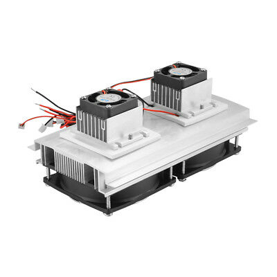 2 Fan Thermoelectric Peltier Refrigeration Air Conditoner Cooling System TE957