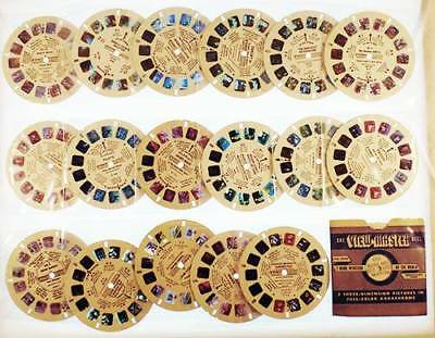 18 Vintage View Master Reels Cartoon Characters & Buenos Aires in Orig Sleeve