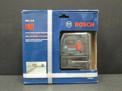 NEW! Bosch GPL 5 R 5-Point Self Leveling Alignment Laser Level 100ft 30m