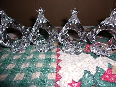 Clear Christmas Tree Napkin Holders
