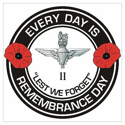 2 Para 2nd Bn The Parachute Regiment classic Remembrance day Regimental Sticker
