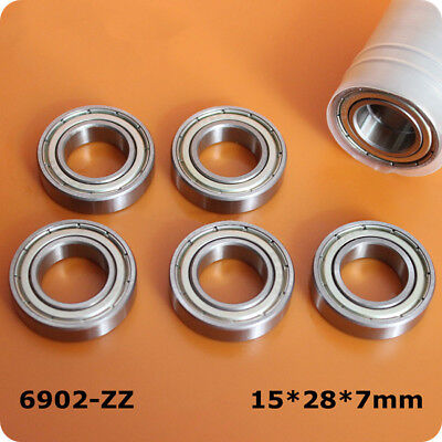 1Pcs Deep Groove Ball Thin Bearings 6902ZZ 61902-2Z Size 15*28*7mm Shaft Steel