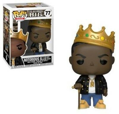 Notorious B.I.G. (No Glasses) - Funko Pop! Rocks: (2018, Toy NUEVO)