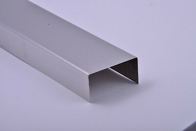 "Stainless Steel C-Channel 304 #4 Brushed 24 Gauge 6"" x 1"" x 4"" x 1"""