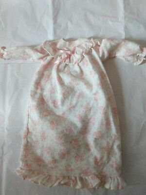 Magic Attic Doll Heather's Nightgown Flannel Roses Pink Retired Robert Tonner