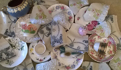 Lot of 4 kg+ Broken antique vintage pottery & china for crafts mosaic projects