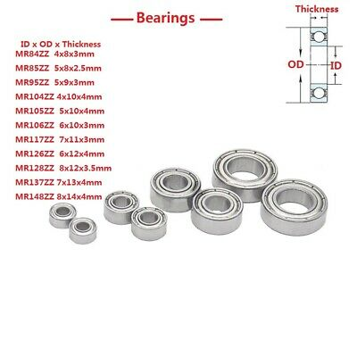 MR84ZZ-MR148ZZ Mini Deep Groove Ball Double Shield Bearings Bearing Steel