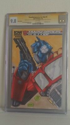 Transformers vs G.I Joe cgc 9.8 sketch by Savy Lim and colored by Steve Lydic