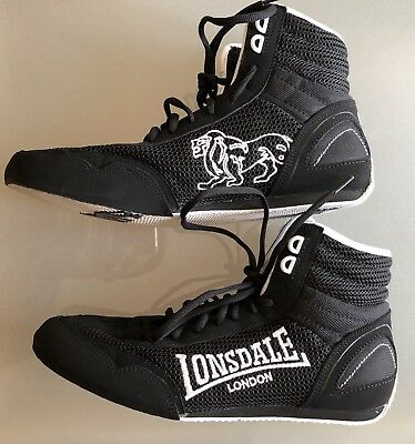 Lonsdale Contender Lo Black / White Size 9 Boxing Shoes / Boots