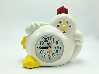 "Hen Shape Alarm Clock W/Sound- Collectible-6""l x 6""h x 3 1/2"" w- FREE SHIPPING"