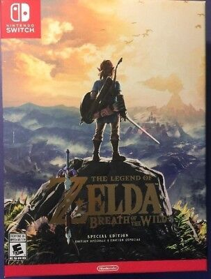 Nintendo Switch Legend of Zelda: Breath of the Wild - Special Edition New Sealed