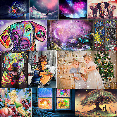 Full Drill 5D Diamond Painting Home Room Decor DIY Xmas Gift With Drawing Tools